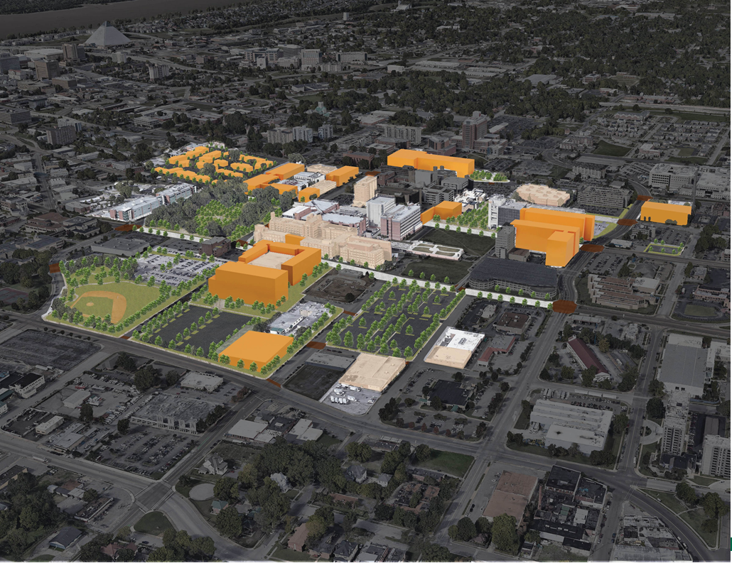 UTHSC long term vision aerial view