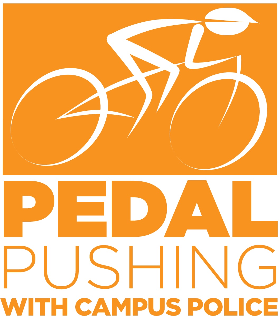 Pedal Pushing logo of bike rider.