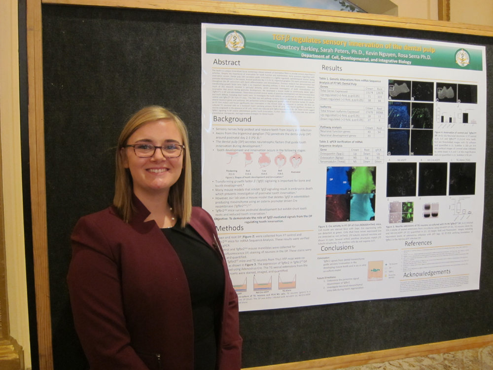 hinman researcher with her presentation