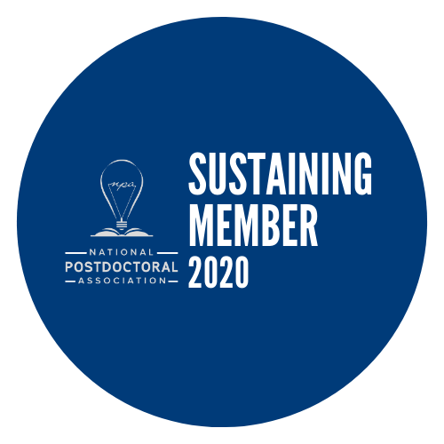National Postdoctoral Association logo with the words