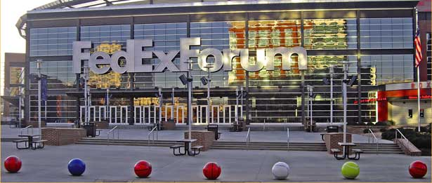 photo outside fedex forum