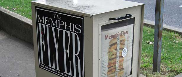 news stand with the memphis flyer
