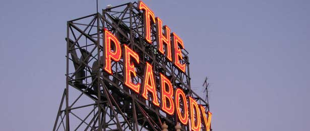 Sign that says the Peabody