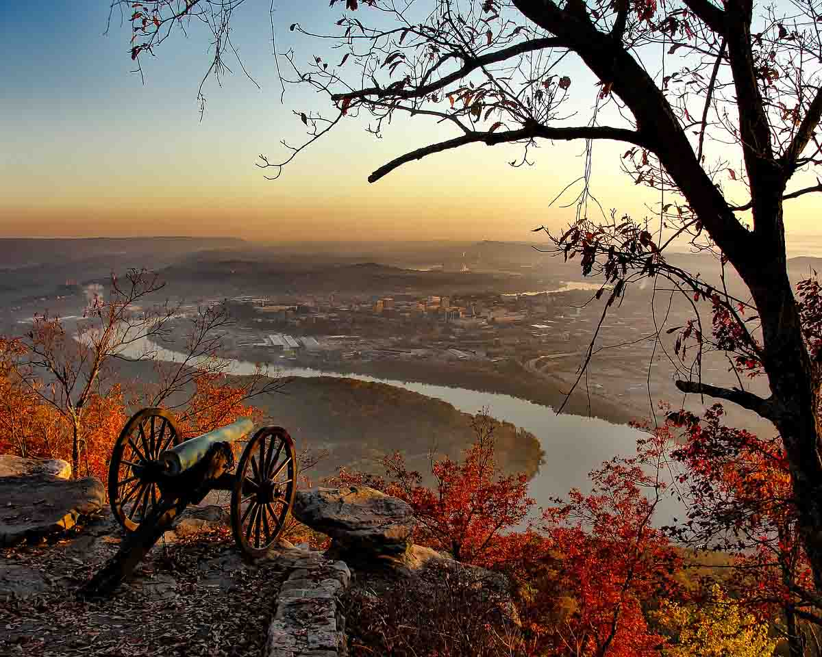 Landscape image overlooking the city of Chattanooga below.