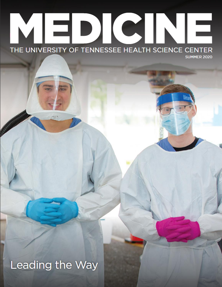 The cover of the Summer 2020 College of Medicine magazine cover.