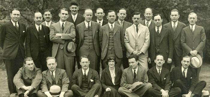 Picture of the men of the Harvey Cushing Society from 1932