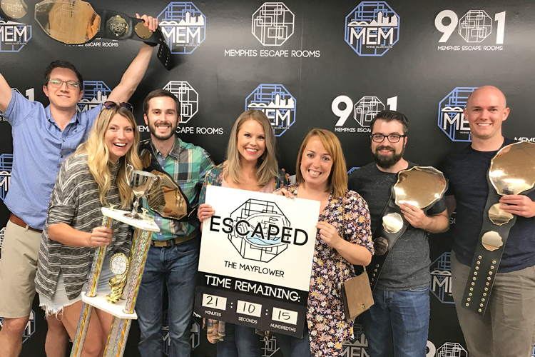 Fellows at an escape room