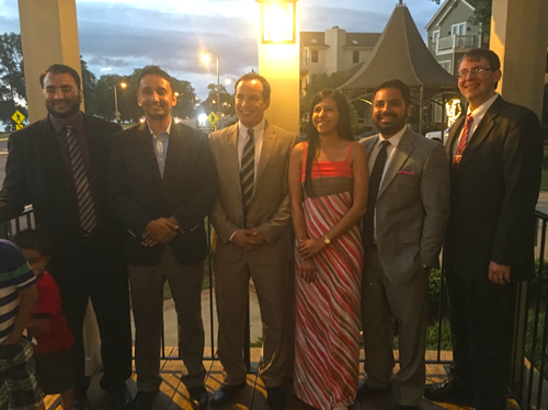 Fellows and faculty at the 2016 graduation dinner