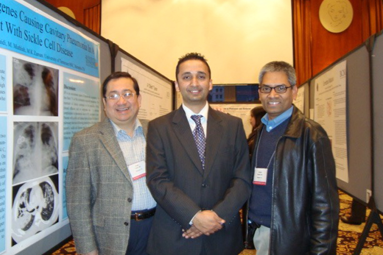 Drs. Freire, Kadaria, and Muthian at a national meeting
