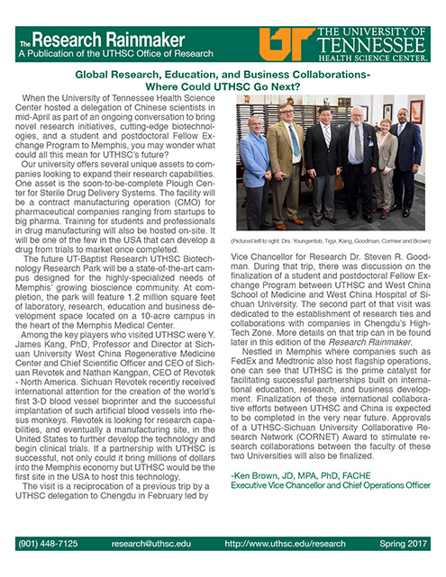The latest edition of the research newsletter